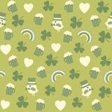st patricks的无缝的绿色背景样式  免版税库存照片