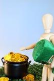 St Patricks金子 免版税图库摄影