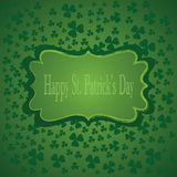 St.Patricks υπόβαθρο ημέρας. Διανυσματική απεικόνιση Στοκ φωτογραφία με δικαίωμα ελεύθερης χρήσης
