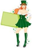 st patricks девушки дня Бесплатная Иллюстрация