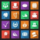 Εικονίδια ημέρας του ST Patricks Στοκ Εικόνες