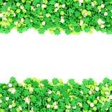 Рамка конфеты дня St Patricks стоковое изображение