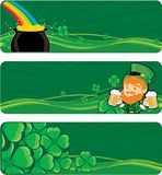 St. Patricks banners Stock Image
