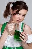 St Patricks Beer Girl Stock Photos