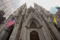 St Patricks Cathedral on Fifth Avenue, Manhattan Stock Photography