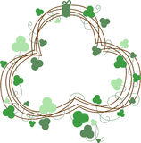 St. Patricks Clover Wreath Royalty Free Stock Photo