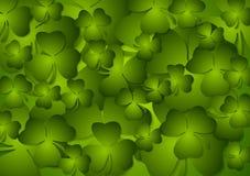 St. Patricks Dag groene vectorachtergrond Stock Foto's