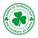 St Patricks Dag groene zegel Royalty-vrije Stock Foto's
