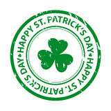St. patricks dag rubberzegel Royalty-vrije Stock Afbeeldingen