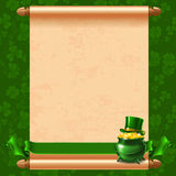 St.Patricks Dagachtergrond Royalty-vrije Stock Afbeelding
