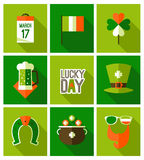 St Patricks dagachtergrond Stock Afbeeldingen