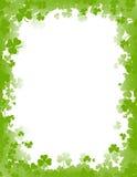 St. Patricks dagachtergrond/grens Royalty-vrije Stock Foto