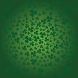 St. Patricks dagachtergrond in groene kleuren Royalty-vrije Stock Afbeeldingen