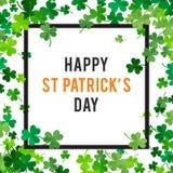 St Patricks dagachtergrond Illustratie Royalty-vrije Stock Afbeeldingen