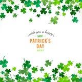 St Patricks dagachtergrond Illustratie Stock Foto