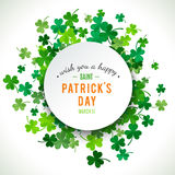 St Patricks dagachtergrond Illustratie Royalty-vrije Stock Foto