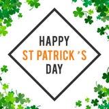 St Patricks dagachtergrond Illustratie Stock Foto's