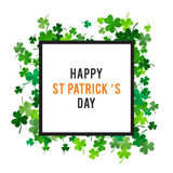 St Patricks dagachtergrond Illustratie Royalty-vrije Stock Fotografie