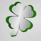 St. Patricks dagachtergrond met klaver Stock Fotografie