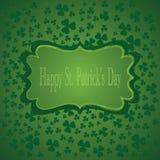 St.Patricks Dagachtergrond. Vectorillustratie Royalty-vrije Stock Foto