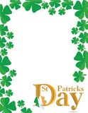 St patricks day. Saint Patrick's day card illustration design Stock Photography