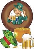 St.Patricks day. Gnom in wooden ftame Royalty Free Stock Image