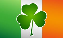 St. Patricks Day. Clover leaf on flag element background for happy St. Patricks Day Stock Photo