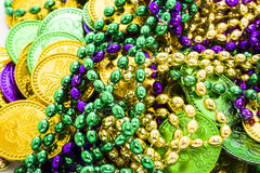 St. Patricks Day. Doilies on green background Royalty Free Stock Photography