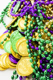 St. Patricks Day. Doilies on green background Royalty Free Stock Photos