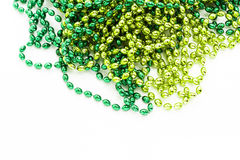 St. Patricks Day. Doilies on green background Royalty Free Stock Images