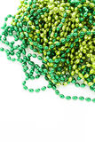St. Patricks Day. Doilies on green background Royalty Free Stock Photo