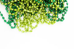 St. Patricks Day. Doilies on green background Stock Images