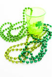St. Patricks Day. Doilies on green background Stock Image