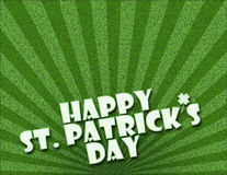 St. Patricks Day. Happy St. Patrick's Day on bright green background Royalty Free Stock Photo