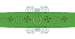 St. Patricks Day abstract background. With horseshoes decoration Royalty Free Stock Photos