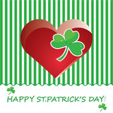 St. Patricks Day abstract background. Vector Royalty Free Stock Photos
