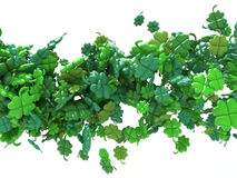 St. Patricks day - Abstract Wave of Leaves Clover Royalty Free Stock Image