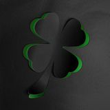 St. Patricks day background with clover Stock Photography
