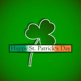 St. Patricks day background with clover and irish flag Royalty Free Stock Photos
