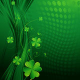 St Patricks day background. With clover leaves Royalty Free Stock Image