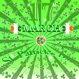 St. Patricks Day background. Stock Image