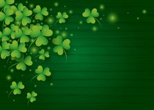 St Patricks day background design of clover leaves. With copy space vector illustration vector illustration