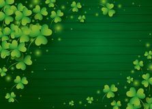 St Patricks day background design of clover leaves. With copy space vector illustration royalty free illustration