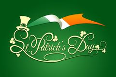 St Patricks Day Background with flag of Ireland Royalty Free Stock Images