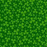 St Patricks day background with green clover leaves Stock Image