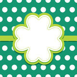 St Patricks Day card with 4 leaf clover text frame Royalty Free Stock Photography