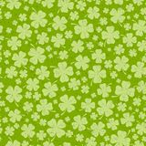 St Patricks day background with lucky green clover leaves Stock Photo