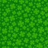 St Patricks day background with lucky green clover leaves Stock Image