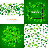 St Patricks Day background set. illustration Stock Photography