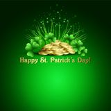 St.Patricks Day background. Vector illustration Royalty Free Stock Photo